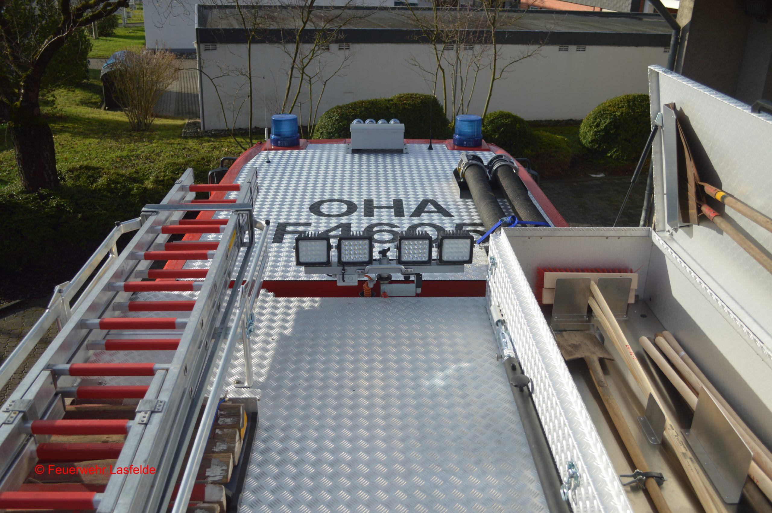 HLF 10 Dachbeladung